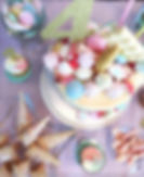 Chocolate and sweets birthday cake party