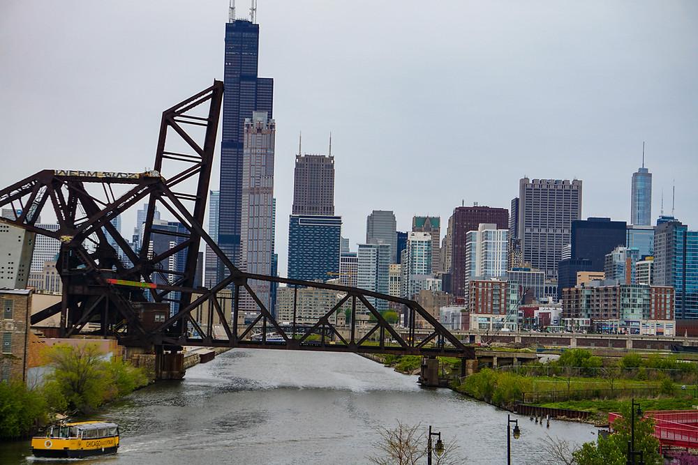 вигляд на місто з моста 18-ї вулиці