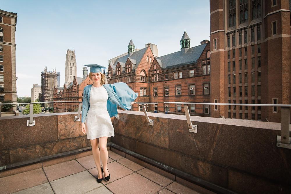 Маша напередодні випускної церемонії в Columbia University . Photo Credit: Marta Cordis