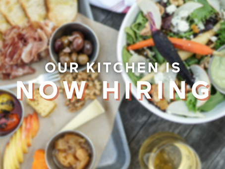 We're Hiring in our Kitchen!