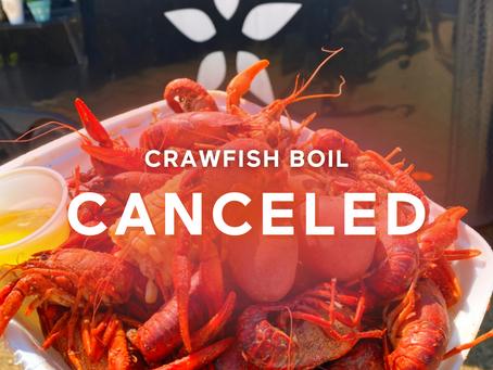 Crawfish Boil - CANCELED 🦞