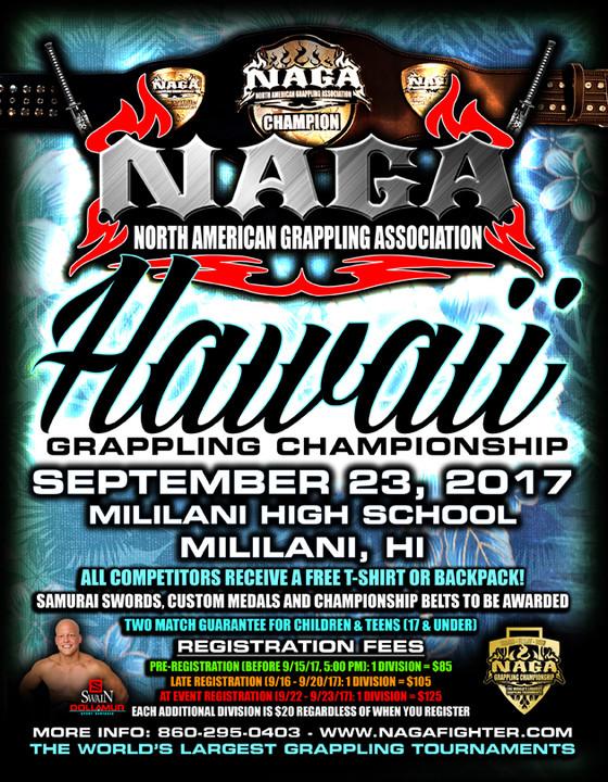 NAGA Hawaii Grappling Championship 9/23/17