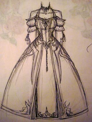 Akasha's Ballroom Dress Design