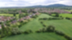 Aerial Image taken by Drone of countryside and farmland near Newton Abbott during CAA Approved Commercial Pilot training