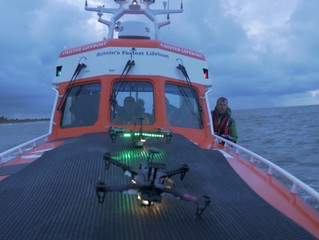 Search and Rescue Drones being trialled on UK lifeboats