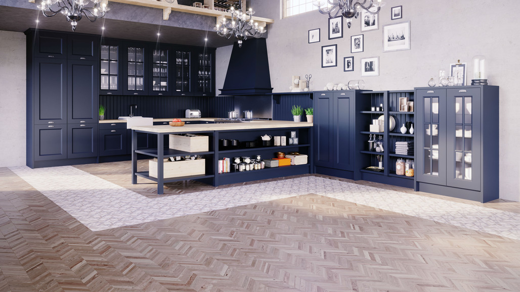 23 - Cocina Xativa Azul Oxford Vista Gen
