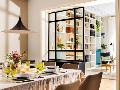 7 ideas para separar el salon del comedor en un mismo espacio