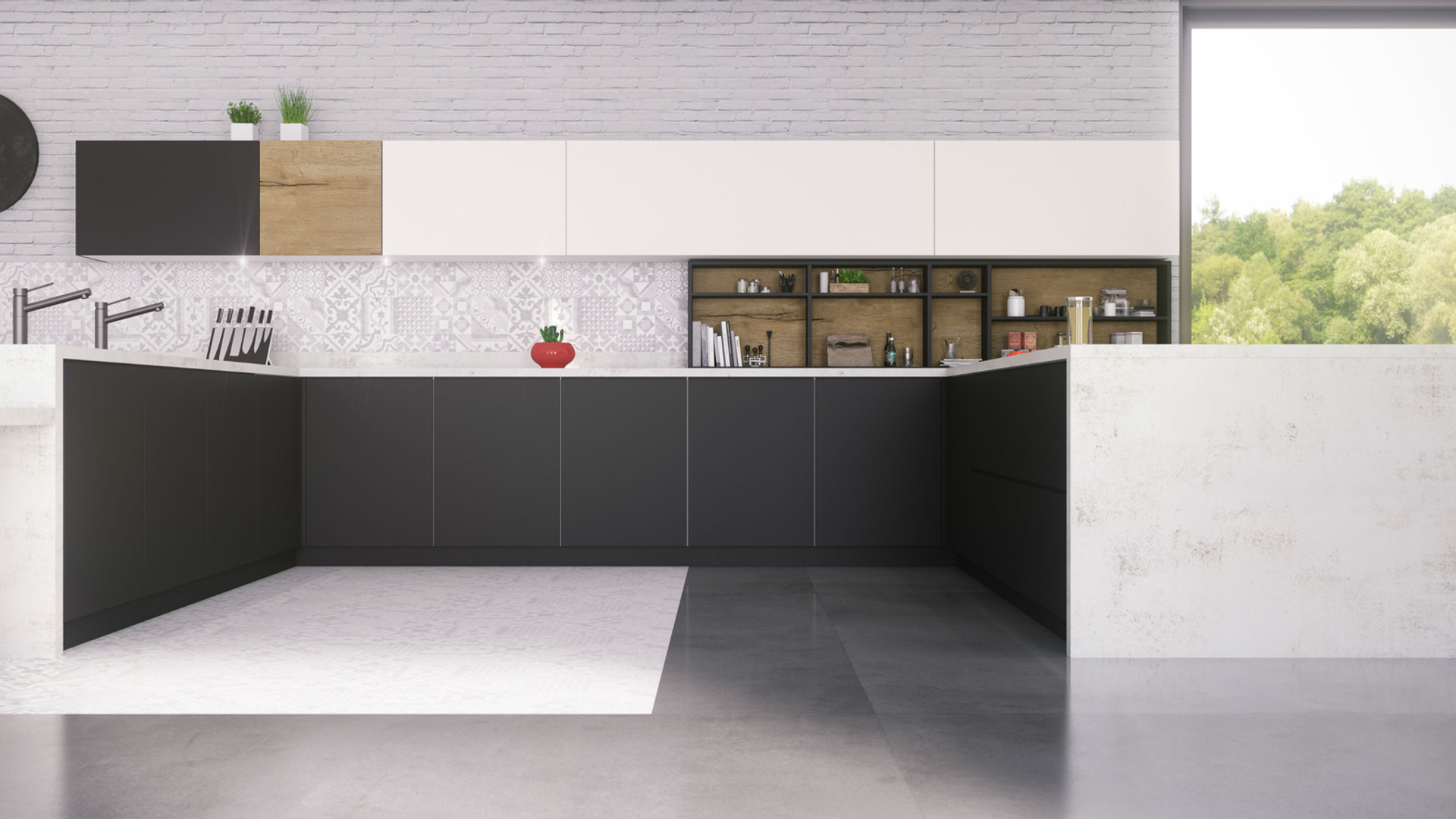 12 - Cocina Negro Advance + Blanco + Hal
