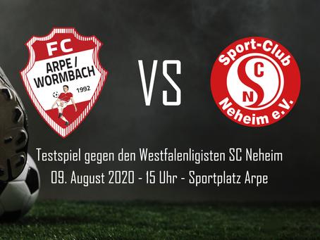 Update - Testspiel gegen den Westfalenligisten SC Neheim