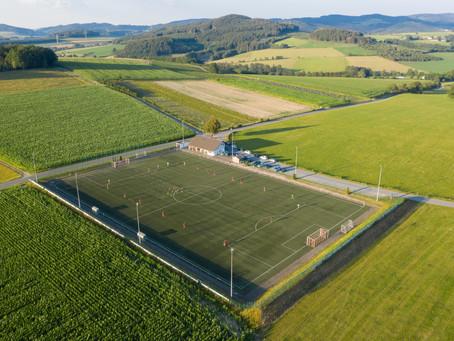 Neue Luftaufnahmen der Sportplätze