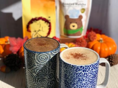 Pumpkin-Houjicha Latte Two Ways