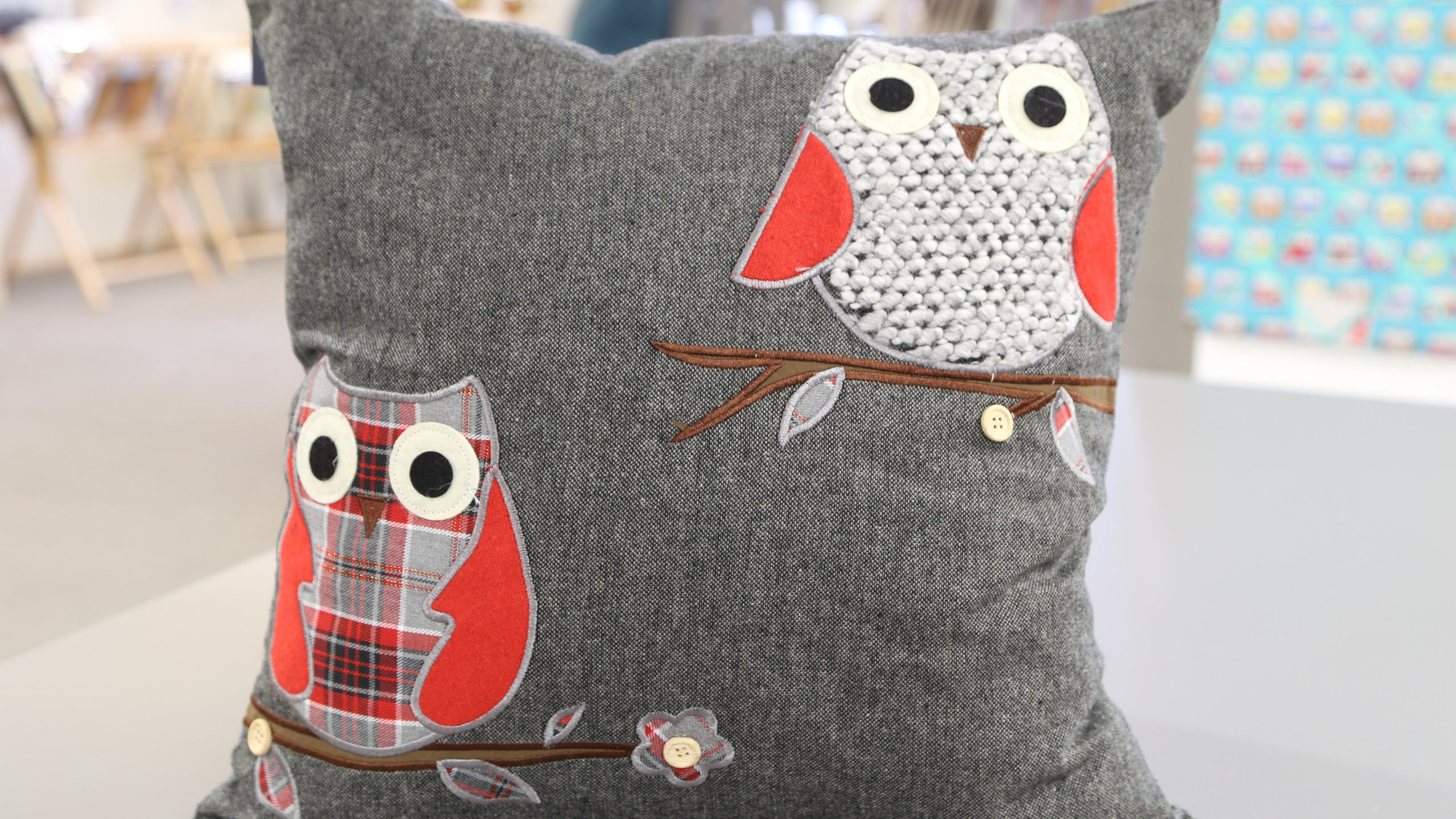 Red Owl cushion