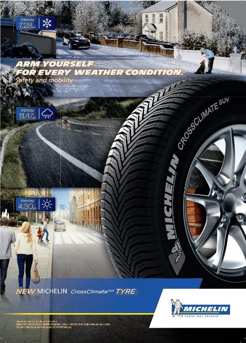 New Michelin Crossclimate Tyre