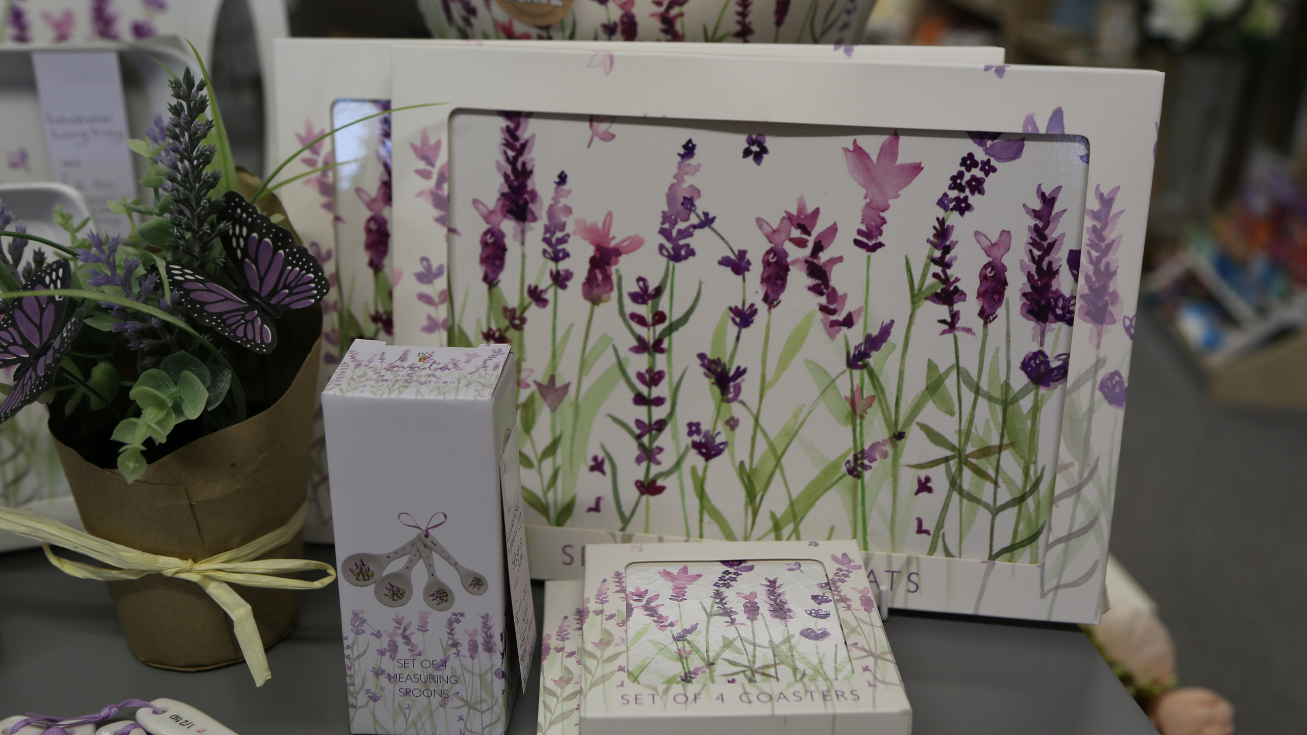 Lavender coasters and mats