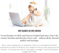 My baby is my boss