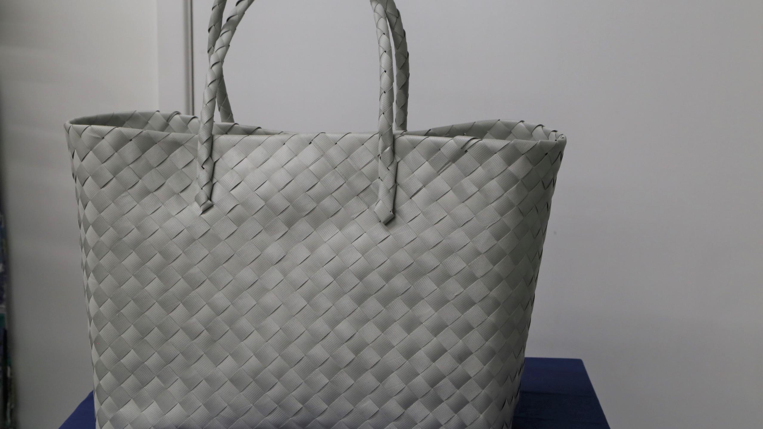Grey beach bag