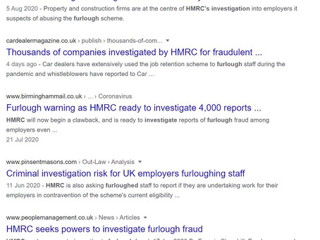 Furlough cases being investigated by HMRC