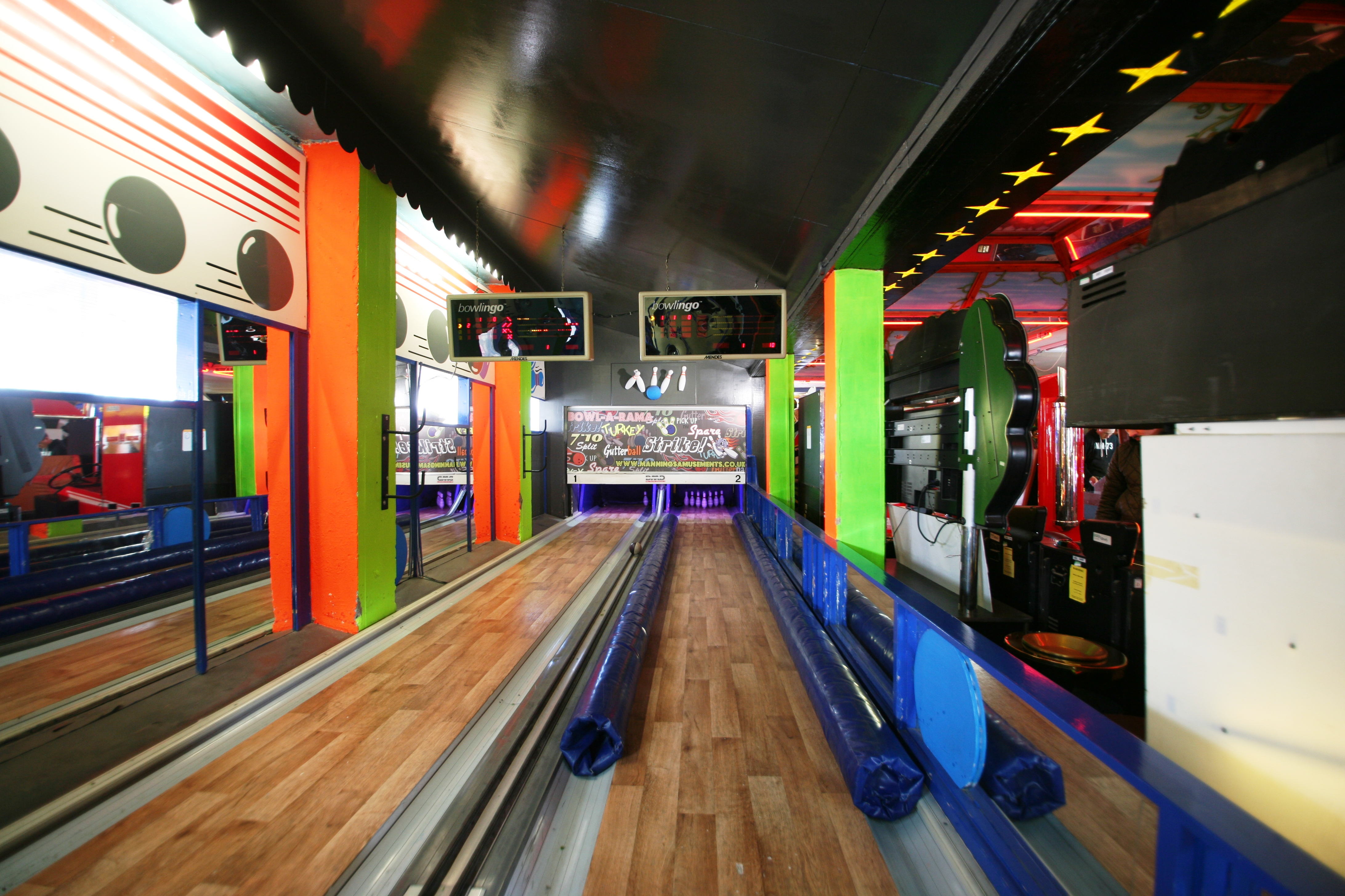 Traditional ten pin bowling