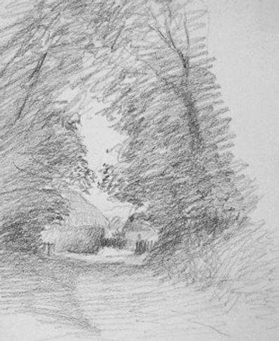 Lane Scene Pencil
