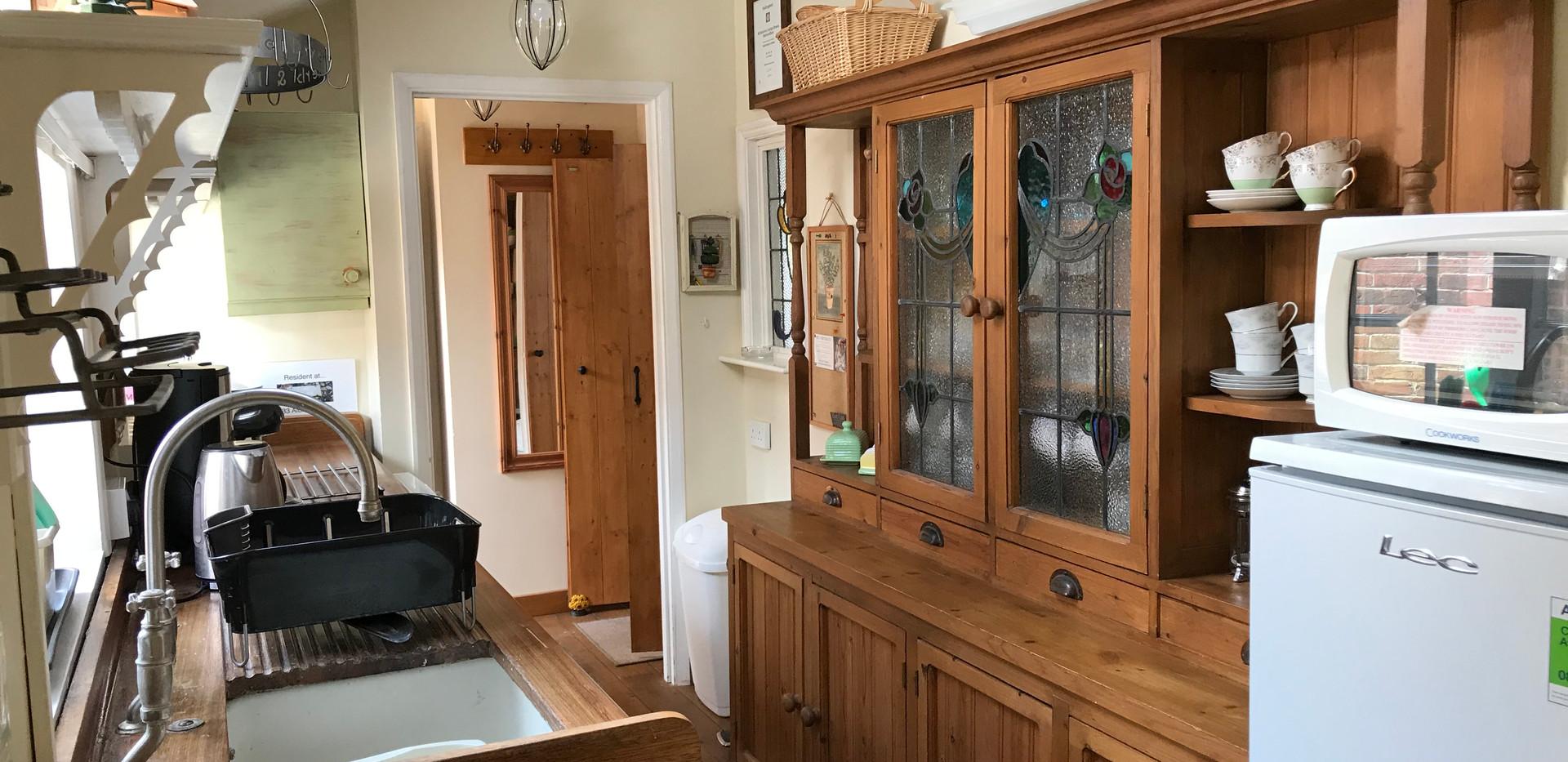 Flint Cottage Kitchen with antique dresser