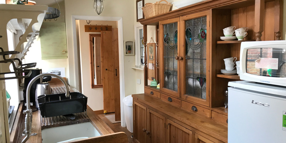 Flint Cottage Kitchen with antique dresser