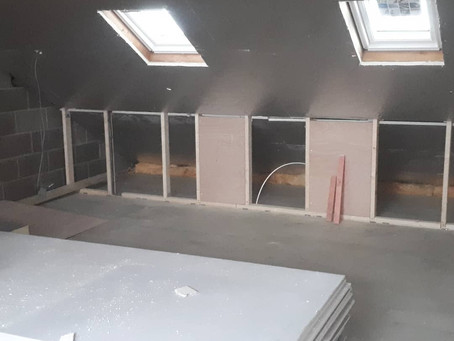 Loft extension, interior building work