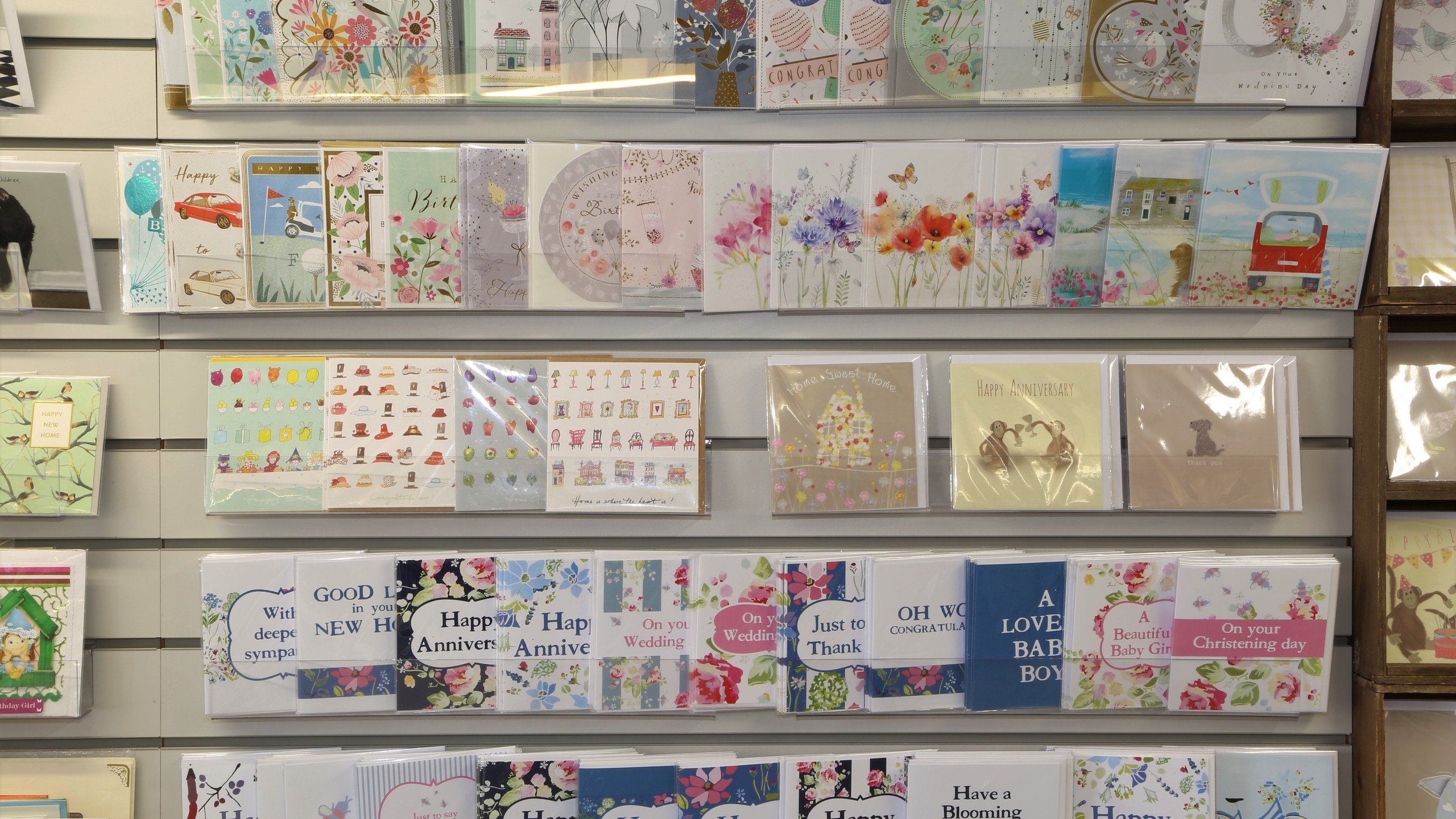 Card selection at Inspirations