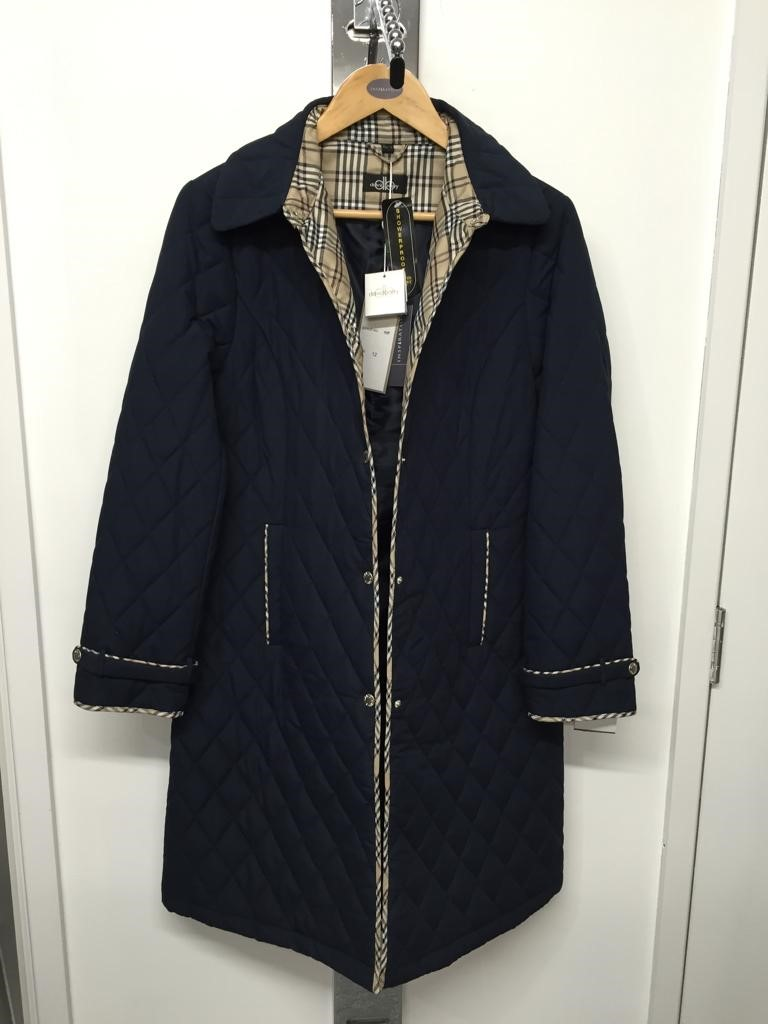 Navy long jacket