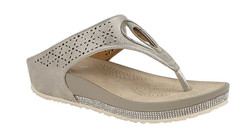 Cipriata Neutral Diamante Flip Flop