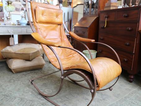 RW Winfield Campaign Rocking Chair - £1,200