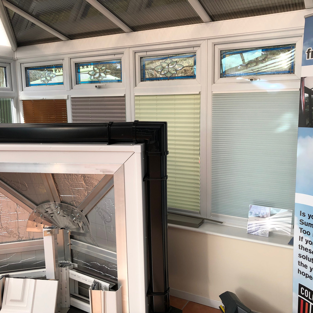 Windows and blinds on display