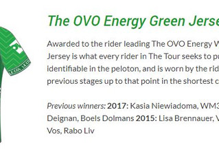 Jerseys for the Women's Tour