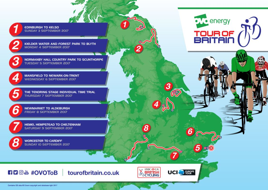 Tour route overview