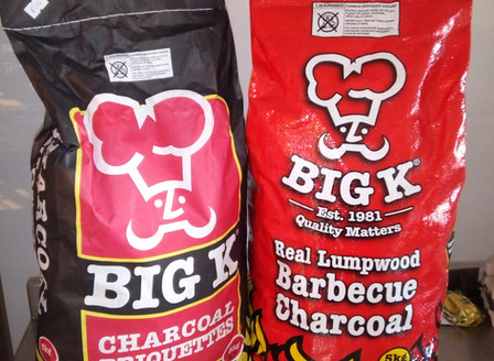 BIG K BBQ lumpwood Charcoal and Briquettes now on Sale