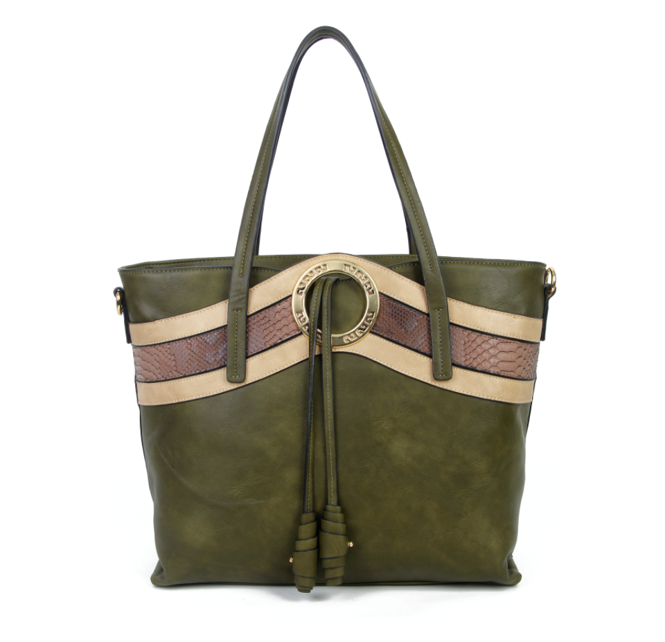 Green holdall bag