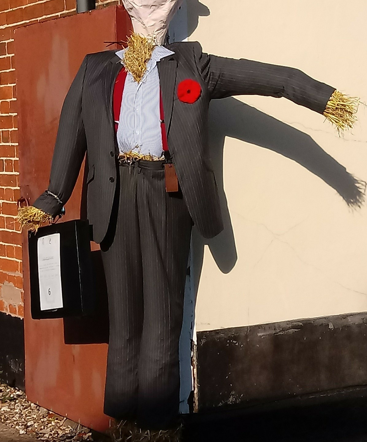Full of business scarecrow