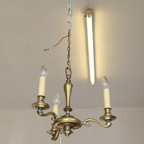 Triple candle style ceiling light