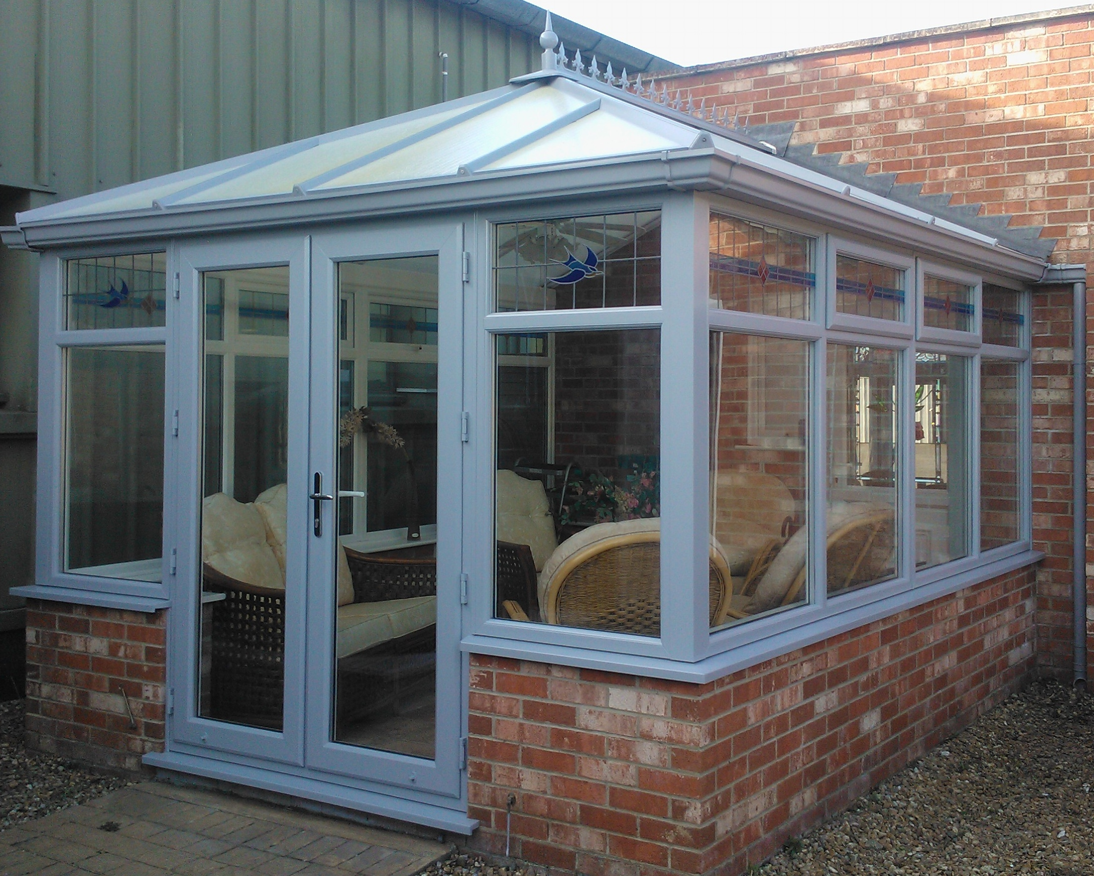 Grey conservatory - original roof