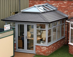 Painted conservatory roof