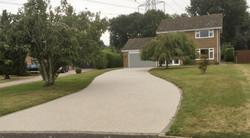 Large resin driveway