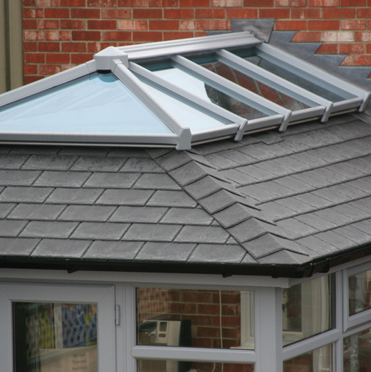 Conservatory with tiled roof