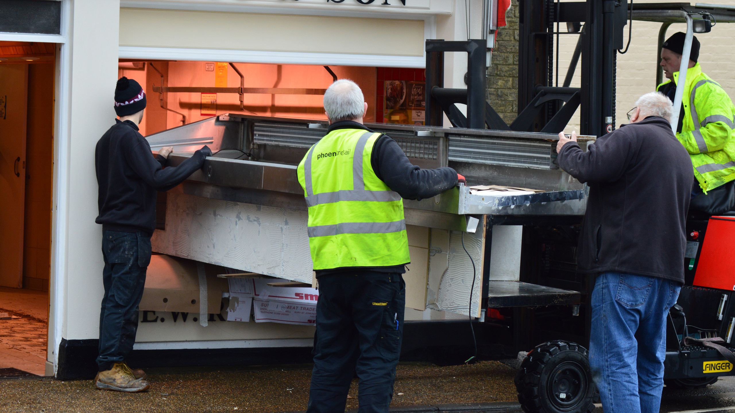 in comes the fork lift