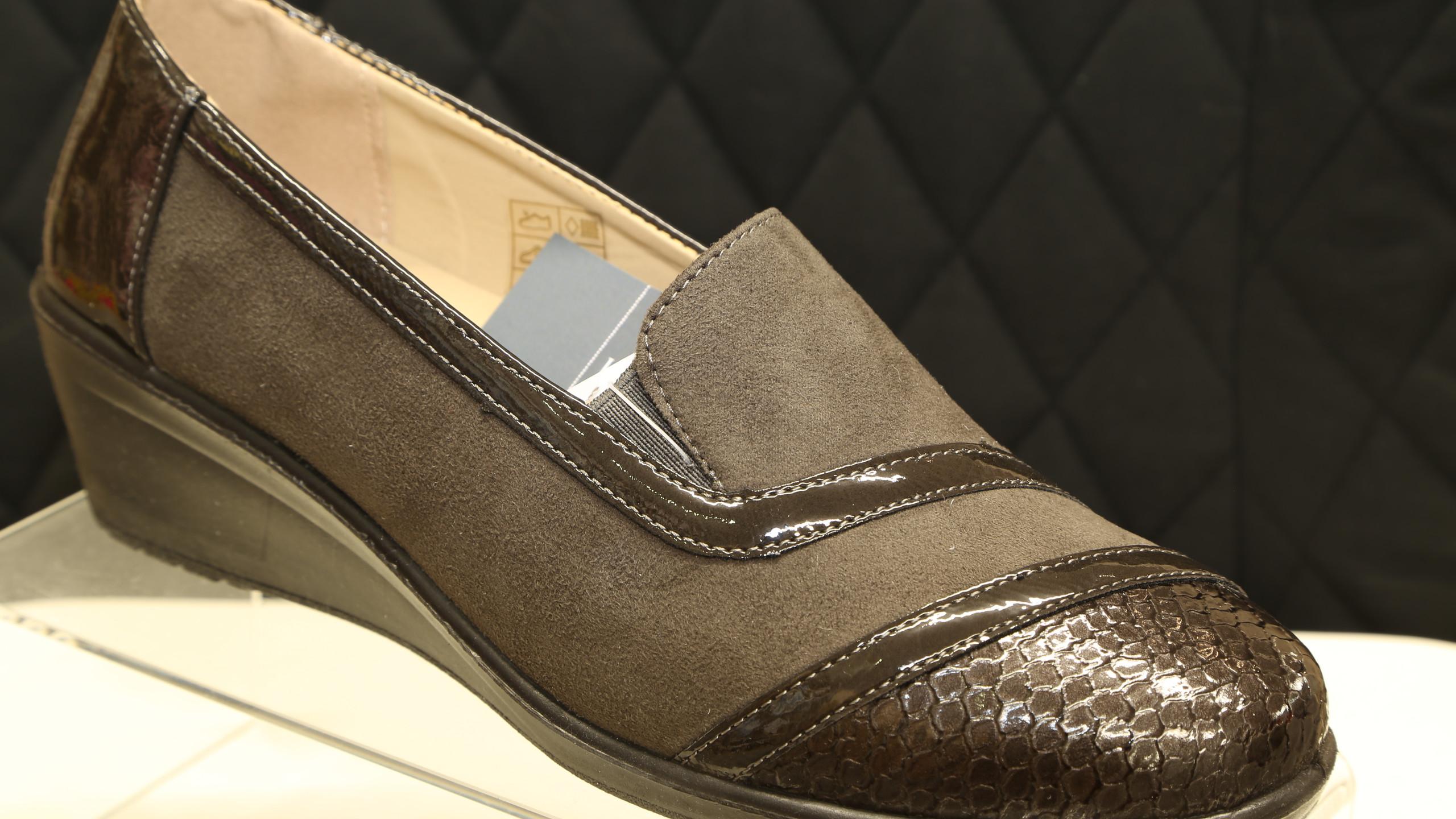 Green Patent Toe Cap Shoes