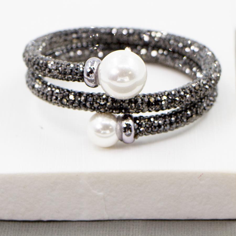 Crystal & Pearl Snake Bracelet £15