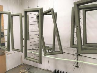 Green windows hanging everywhere!!