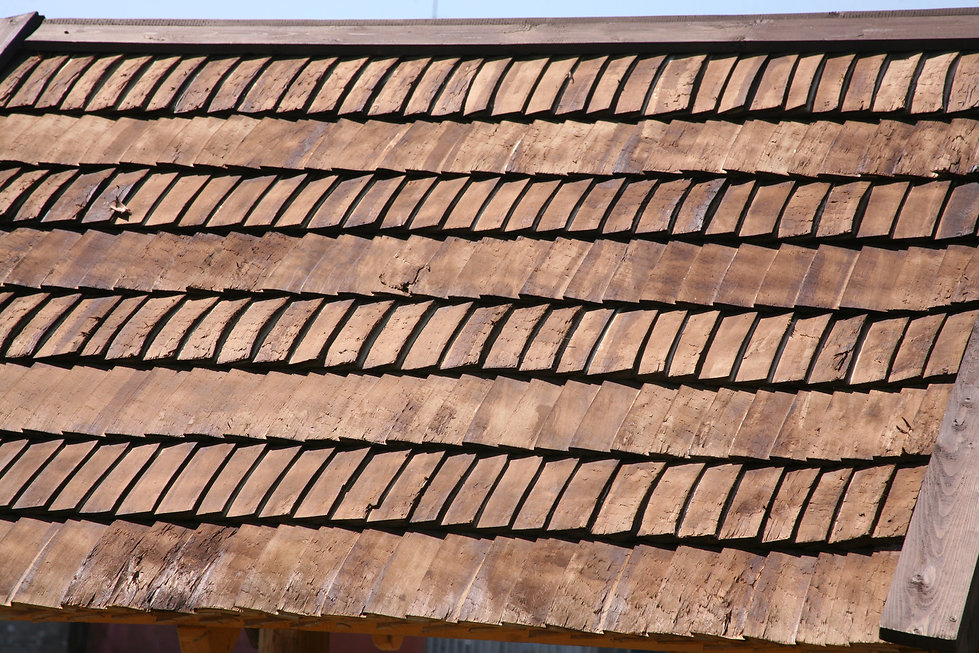 SOlid wood roof tiles