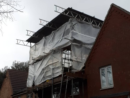 Work underway on a loft conversion