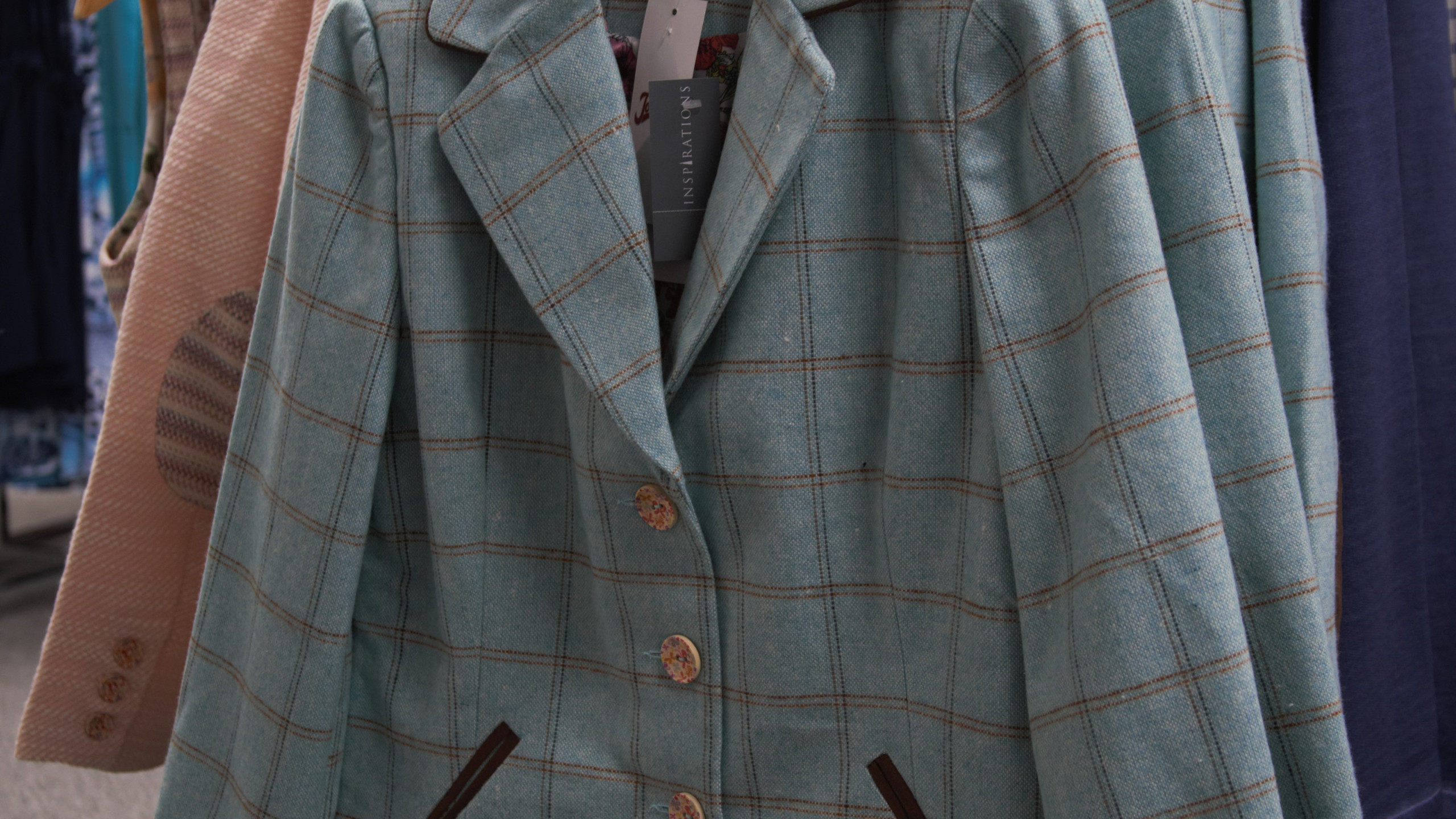 Duck egg blue jacket
