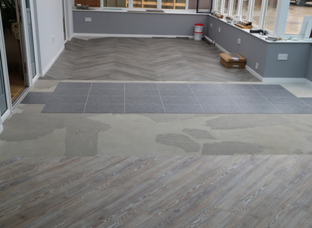 More new flooring in the conservatory show area in Rendlesham near Woodbridge