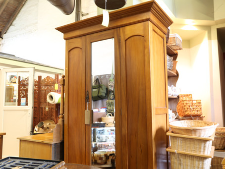 Satin Walnut Wardrobe & Dressing Table - £125 (for the pair)